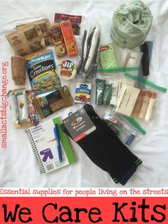 how to pack a blessing bag free printable checklist pinterest