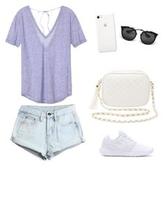 """""""Día Informal"""" by antoberneche on Polyvore featuring Victoria's Secret, WithChic, NIKE, Charlotte Russe and Prada"""