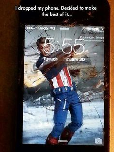 Best way to deal with broke phone screen