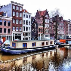Houseboat living in Amsterdam; went with my aunt and uncle on their boat through the canals!