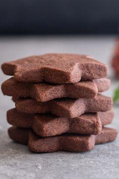 Chocolate Shortbread Recipe, Chocolate Shortbread Cookies, Shortbread Recipes, Cookie Recipes, Dessert Recipes, Shortbread Biscuits, Spritz Cookies, Buttery Cookies, Baking Cookies