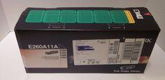 Lexmark E260A11A Black Toner Cartridge New NIB Genuine OEM E260 E360 E460 E462 #Lexmark