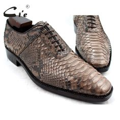 Price tracker and history of cie Square Toe Bespoke Custom Handmade Python  Skin Calf Leather Outsole Breathable Men s shoe Goodyear welted Color Brown 2c0d85c783fe