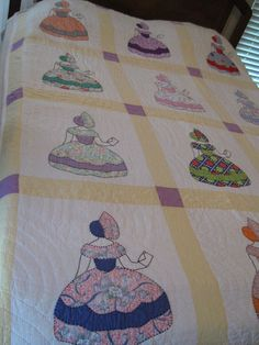Antique Vintage Sunbonnet Sue Quilt Mailing A Letter Multi Color | eBay