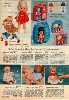 1966-ADVERTISEMENT-Remco-Topper-Doll-Pocket-Book-Heidi-Jan-Tickle-Tears-Baby-Boo