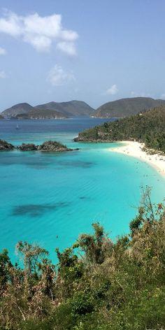 Trunk Bay Beach, St. John, US Virgin Islands ️ -------------- #caribbean #beaches #vacation #tropics #travel