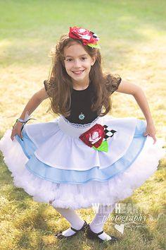 Alice in Wonderland Inspired Dress Up Costume Apron...Half Apron style. $70.00, via Etsy.