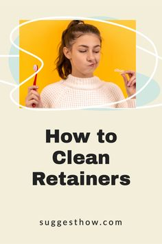 Retainers sits inside your mouth so you'll want to know how to clean retainers to remove plaque and odor-causing bacteria. Find out the best ways for how to clean your retainers and Invisalign aligners at home. You can get rid of the white buildup (plaque), and remove the bad smell of retainers with these 2 easy soaks. With more helpful tips & DIY retainer cleaner recipes. #invisalign #invisaligntray #howto #braces #deepclean How To Clean Retainers, Clear Retainers, Deep Cleaning Tips, Cleaning Hacks, Retainer Cleaner, Yoga For Flat Belly, Nail Care Tips, Bones And Muscles