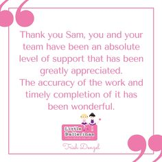 Kind words from another happy client. #VirtualAssistant