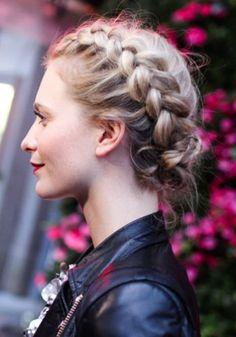 Poppy Delevigne's side braids