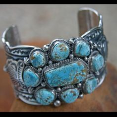 Native American Silver and Turquoise Cuff