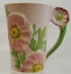 Carlton Ware Pink Buttercup Chocolate Mug - no cover - 1936