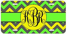 Personalized Monogrammed Chevron Yellow Green License Plate Auto Tag Top Craft Case http://www.amazon.com/dp/B00OMQC8SA/ref=cm_sw_r_pi_dp_nLotub1EG1546