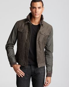 John Varvatos Star USA Double Layer Denim Jacket - Coats & Jackets - Apparel - Men's - Bloomingdale's