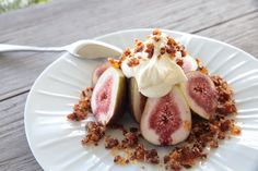 Fresh Figs, Voodoo Bacon Praline and Chantilly Cream