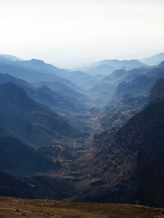 I think this is Wadi Feynan - the photo is take from just near Dana.  Fantastic trekking.