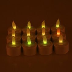 Weanas® 12pcs Rechargeable LED Tea Light Tealights Candles Multi Color with Remote Control Holder Charger Flickering Flameless for Emergency Christmas Birthday Wedding Party http://www.amazon.com/dp/B00KL4VZAE/ref=cm_sw_r_pi_dp_d7tQub1ZTMFHY