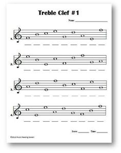 Notes With Ledger Lines For Bass Clef