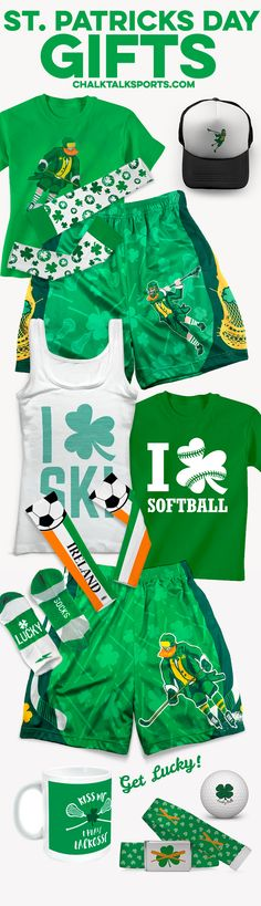 We have everything you need to make this St. Patrick's Day a sporty one! Check out some of our favorite accessories, gear, and apparel!