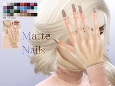 Sims 4 CC's - The Best: Nails by Pralinesims