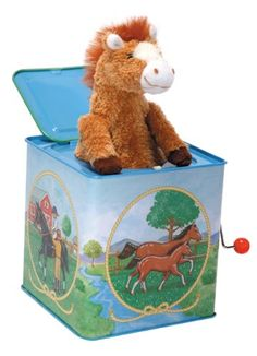 We love this Pony jack-in-the- box toy, never gets old.