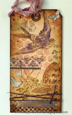 Layers of ink - Tim Holtz 12 tags of 2014 March