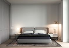 Penthouse on Behance Modern Bedroom, Bedroom Classic, Home Bedroom, Bedroom Decor, Bedroom Inspo, Guest Room, Guest Bedrooms, Interior Styling, Interior Design