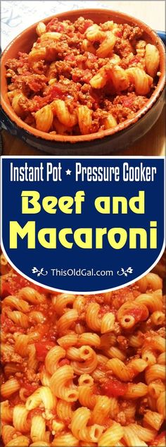 This Pressure Cooker Beef and Macaroni (Bolognese/Johnny Marzetti) with homemade meat sauce will feed a crowd in under 30 minutes, but tastes like you were cooking all day. via @thisoldgalcooks