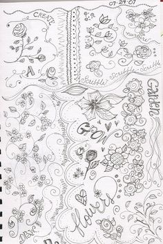 more flower doodles