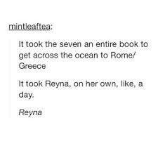 Further proof that Reyna is awesome--- I LOVE HER!!!! :)>>> Me too!>>>She's one of my favorite PJO/HOO characters