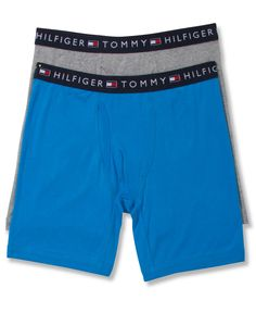 Tommy Hilfiger Men's Underwear, Colors Cotton Boxer Brief 2 Pack