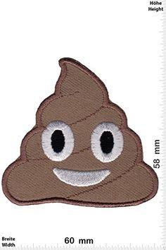 Patches - Emoji - Shit - Movie Game Patch - Cartoon - Comic - Vest - Iron on Patch - Applique embroidery Écusson brodé Costume Cadeau- Give Away
