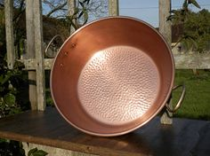 Vintage French Copper Jam Pan. Large Copper Jam / Jelly /