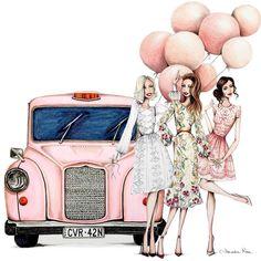 Birthday Ecards for Females Megan Hess Illustration, Illustration Mode, Betty Boop Cartoon, Girl Cartoon, Fashion Wall Art, Fashion Sketches, Fashion Illustrations, Cute Wallpapers, Cute Art