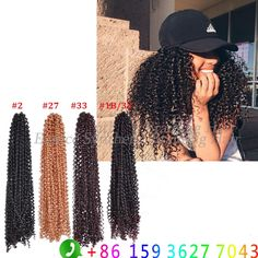 Freetress Crochet Braid Bouncy Braid 18inch Freetress Synthetic Curly Hair Crochet Braid Hair Extension Free tress Water wave