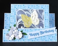 Butterfly Step Card on Craftsuprint - View Now!