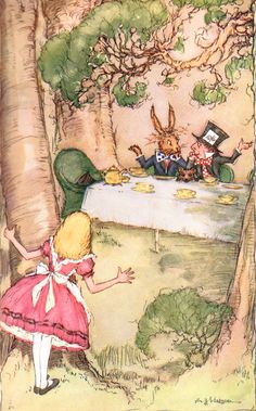 Alice in Wonderland, illustrated by A.H. Watson.