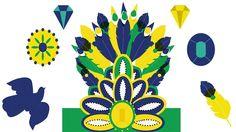 Make your own Brazilian carnival headdress