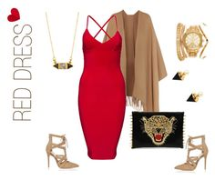 """""""red dress"""" by shanterialwashington ❤ liked on Polyvore featuring Acne Studios, Eye Candy, River Island, Katie Diamond, women's clothing, women, female, woman, misses and juniors"""