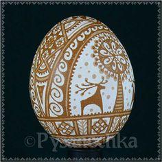 Ukrainian Pysanky. Etched Pysanka Chicken Easter Egg