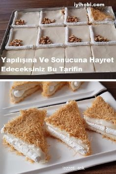 Yapılışına Ve Sonucuna Hayret Edeceksiniz Bu Tarifin - Pastry Turkish Sweets, Good Food, Yummy Food, Food Places, Popular Recipes, Delicious Desserts, Food And Drink, Cooking Recipes, Favorite Recipes