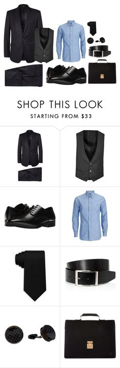 Business Formal by abbymtz on Polyvore featuring Corneliani, Stacy Adams, Louis Vuitton, James Cavolini, HUGO, Tommy Hilfiger, men's fashion and menswear
