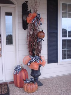 Fall Decor on Front Porch - Porche Designs - Decorating Ideas - HGTV Rate My Space
