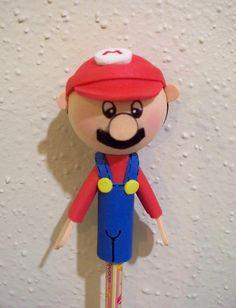 Mario Bros. craft foam pencil topper