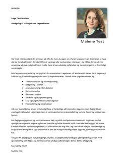 Jobansøgning - Lægesekretær til praktikserende læge Interview, Bedroom, Bedrooms, Master Bedrooms, Dorm, Room