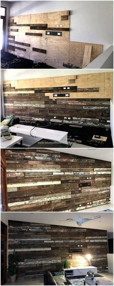 We have presented an idea here with which the walls can be decorated, the wall cladding is looking amazing and it is a great idea to copy for making the home look distinctive. Only one wall decorated with the pallets is enough to make the room look great.