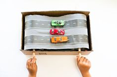 Give your kid the opportunity to get fast and furious with this DIY Car Conveyor Belt. @hell0wonderful provides yet another fun project that takes imaginative play to another level.