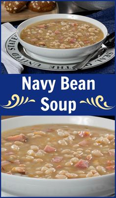 Crock pot ham bone and beans recipe crock pot ham northern cozy up to a comforting bowl of navy bean soup thats full of all the classic forumfinder Choice Image