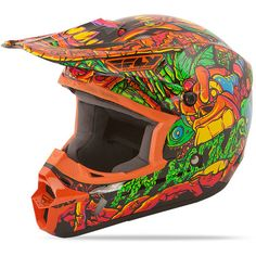 Dirt Bike Fly 2015 Youth Kinetic Helmet - Jungle | MotoSport