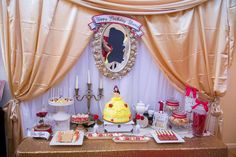Beauty and the Beast birthday party! See more party ideas at CatchMyParty.com!